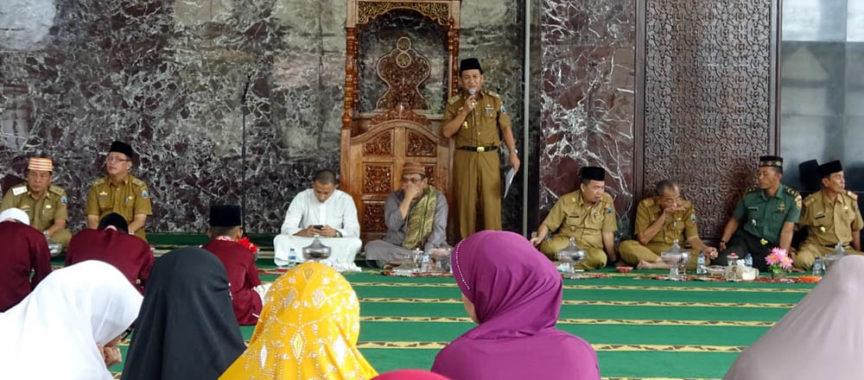 Peringati Isra Miraj Pemkab Lampung Selatan Gelar Pengajian Di Masjid Agung Pemkab Lampung Selatan