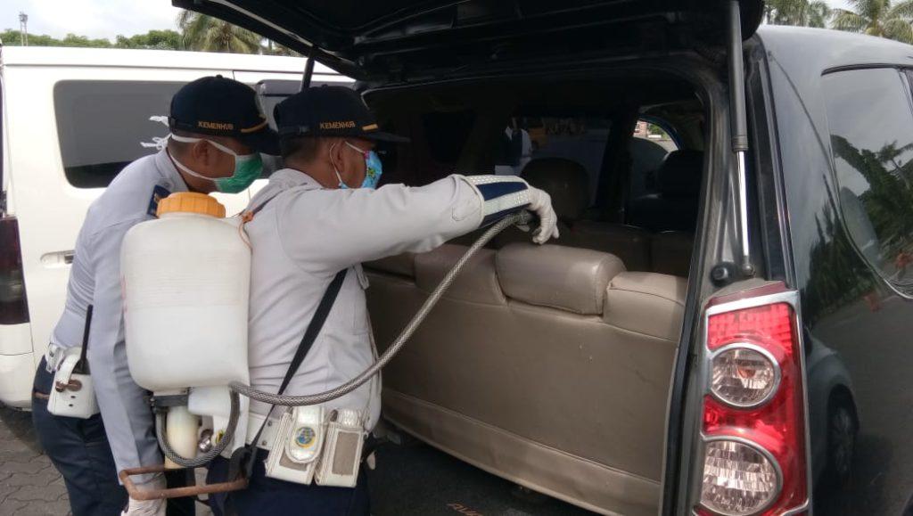 Dishub Lampung Selatan Semprot Disinfektan Di Pelabuhan Bakauheni, Imbau Masyarakat Tunda Berpergian