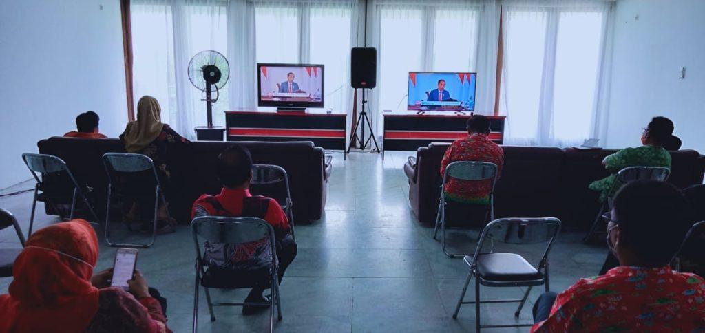 Pemkab Lampung Selatan Ikuti Musrenbangnas 2020 Secara Virtual